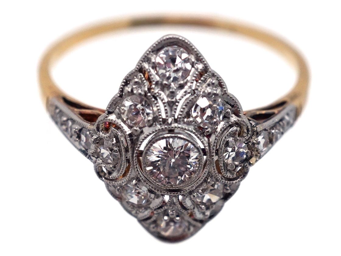 Art Deco Diamond Shaped Diamond Ring