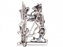 Silver & Marcasite Bear and the Ragged Staff Brooch