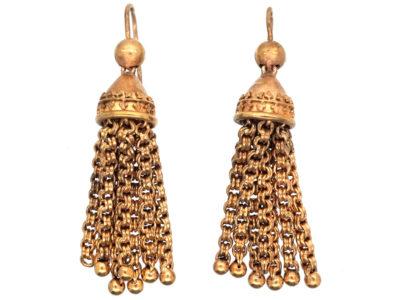 Victorian 15ct Gold Tassel Earrings
