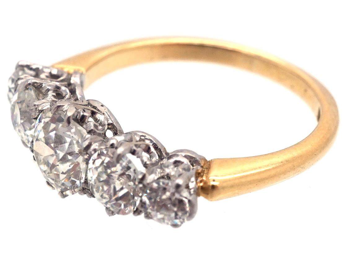 Edwardian 18ct Gold Five Stone Diamond Ring