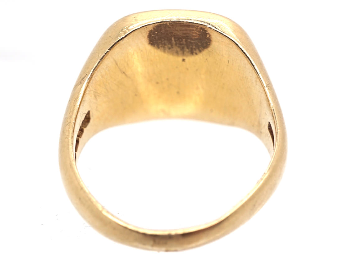 18ct Gold Signet Ring with Lion Rampant Intaglio
