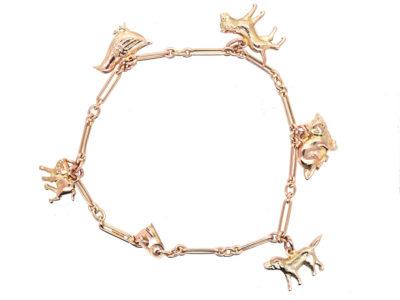 9ct Gold Animal Charm Bracelet