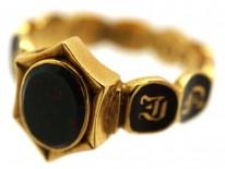 William IV Bloodstone & Enamel Memorial Ring