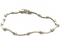 18ct White Gold & Diamond Set Bracelet