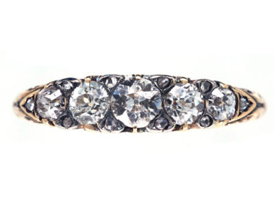 Victorian 18ct Gold & Diamond Five Stone Ring
