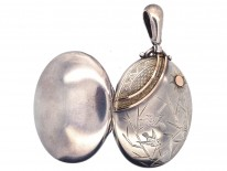 Victorian Silver & Gold Overlay Aesthetic Period Locket