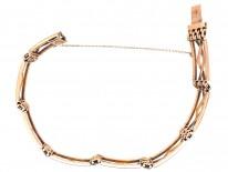 Edwardian 15ct Gold Gate Bracelet