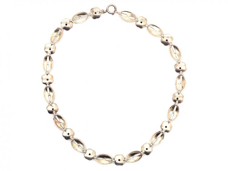Theodor Farhner Art Deco Silver Gilt Necklace