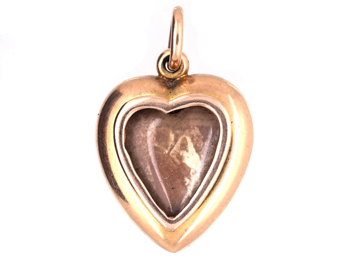 Edwardian Heart Shaped Pendant Set With a Natural Split Pearl