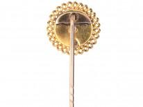 Victorian 18ct Gold, Diamond & Cabochon Garnet Stickpin