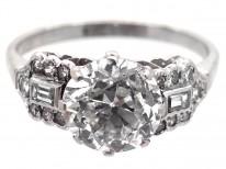 Art Deco Platinum & Diamond Single Stone Ring