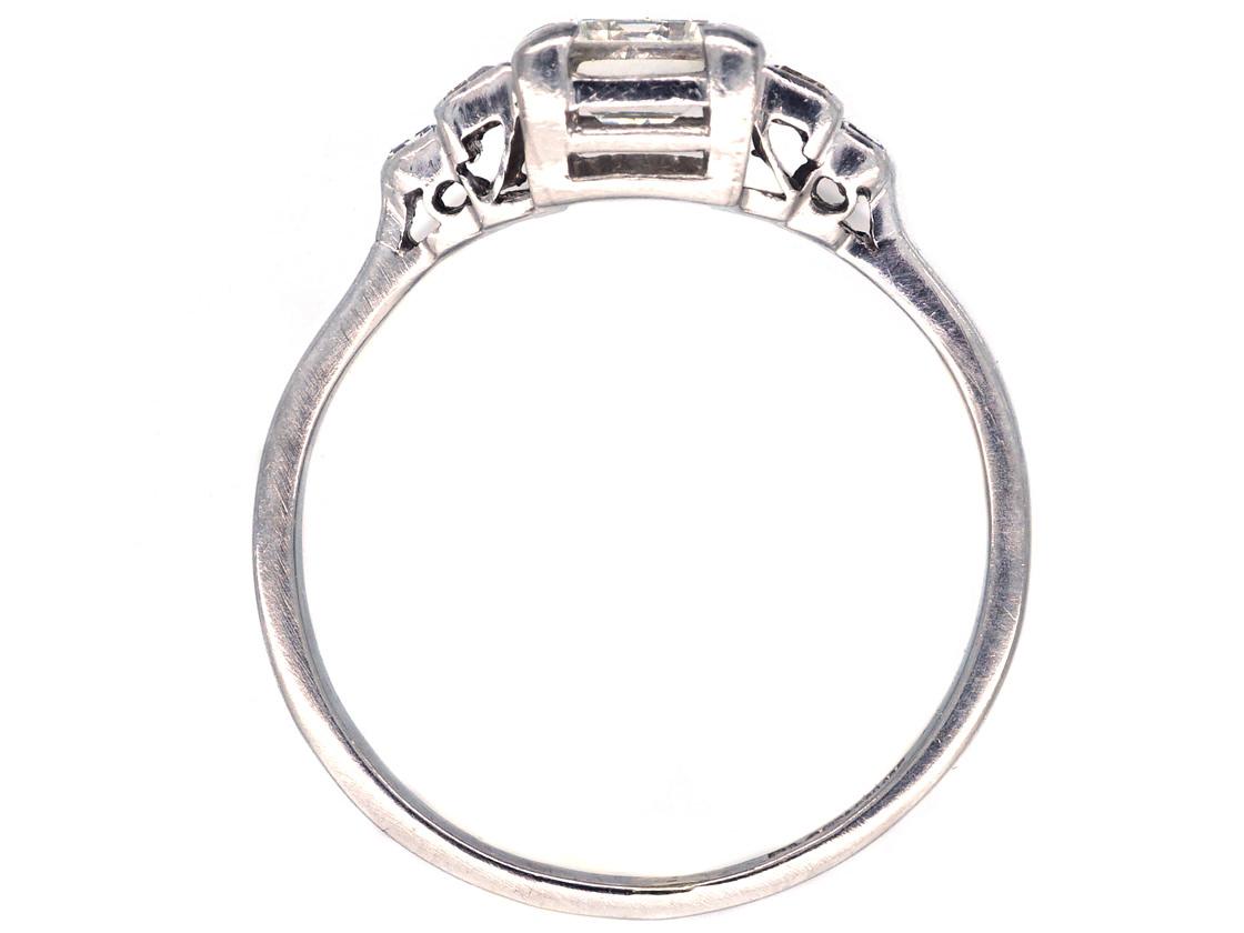 Platinum & Diamond Baguette Cut Ring