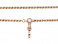 Edwardian 9ct Gold Prince of Wales Twist Long Guard Chain