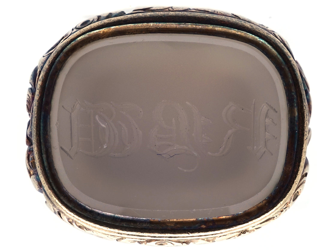 Georgian Gold Cased & Chalcedony Seal With Monogram