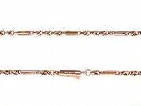 Edwardian 9ct Gold Fancy Link Chain