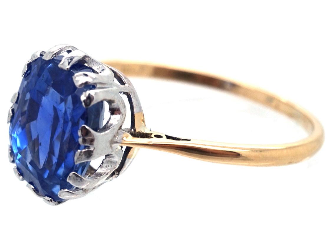 18ct Gold & Platinum, Ceylon Sapphire Ring