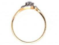 Edwardian Diamond Solitaire Twist Ring
