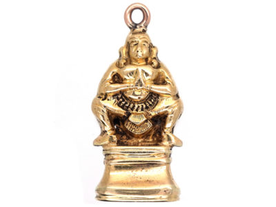 18ct Gold Buddha Seal With Squirrel Intaglio Base