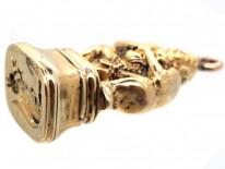 18ct Gold Buddha Seal With Squirrel Intaglio Base