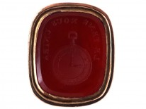 Georgian 15ct Two Colour Gold Seal with Snake Motif & Carnelian Intaglio of a Watch