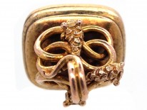 Regency 15ct Gold Three Entwined Snakes Seal