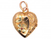 Edwardian 15ct Two Colour Gold Heart Locket