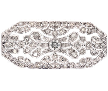 Art Deco Platinum & Diamond Brooch