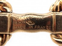 Cartier 18ct Gold & Sapphire Stirrup Cufflinks