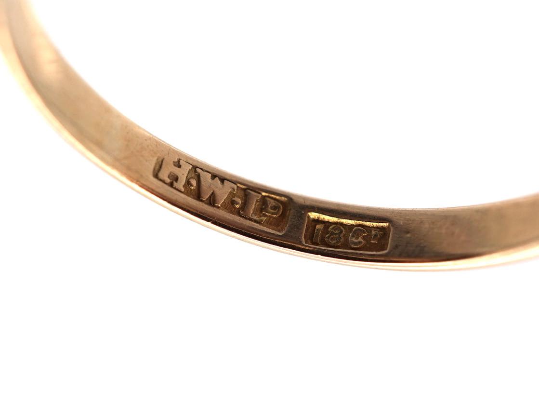 Edwardian 18ct Gold, Sapphire & Diamond Daisy Ring