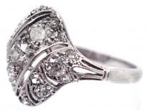 French Art Deco Platinum & Diamond Set Ring