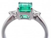 18ct Gold, Columbian Emerald & Diamond Ring