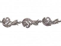 Silver & Marcasite Art Deco Swirl Design Collar