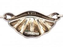 Theodor Fahrner Silver Gilt & Marcasite Art Deco Necklace