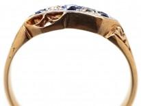 Victorian 18ct Gold Sapphire & Diamond Ring