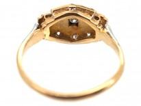 Art Deco 18ct Gold, Platinum & Diamond Ring