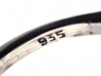 Art Deco Silver, Carnelian & Marcasite Ring