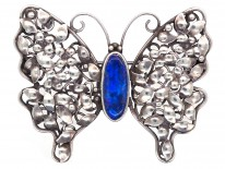 Silver & Black Opal Butterfly Brooch Attributed to Rhoda Wager