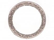 Art Deco 18ct White Gold, Ruby & Diamond Eternity Ring