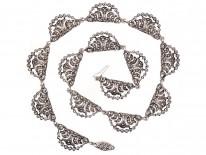 Art Deco Silver & Marcasite Articulated Collar