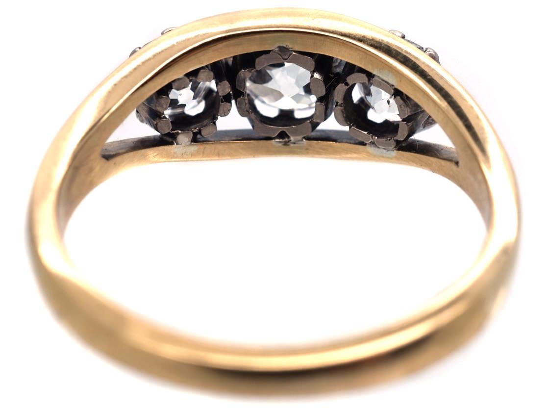 18ct Gold & Platinum, Diamond Three Stone RIng