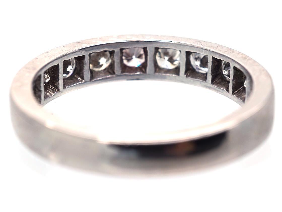 18ct White Gold & Diamond Half Eternity Ring