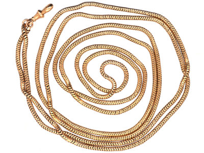 Victorian 15ct Gold Long Guard Chain