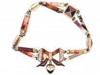 Victorian 15ct Gold Scottish Agate Bow Bracelet
