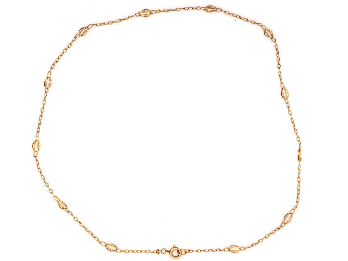 Art Nouveau 9ct Gold Short Chain