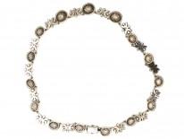 Silver, Blue & White Paste Necklace