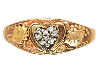 Alaskan Two Colour 14ct Gold & Diamond Heart Ring