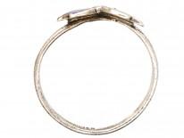 Art Nouveau Silver & Enamel Butterfly Ring