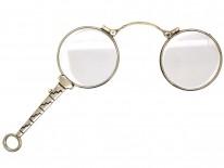 Art Deco Silver & Enamel Lorgnette