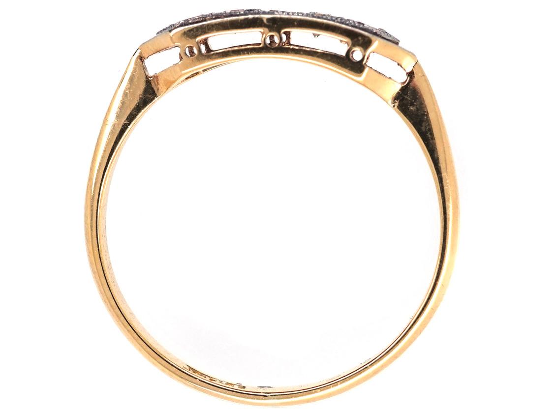 Art Deco 18ct & Platinum, Diamond Five Stone Ring