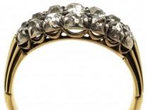 Georgian Double Row Old Mine Cut Diamond Ring